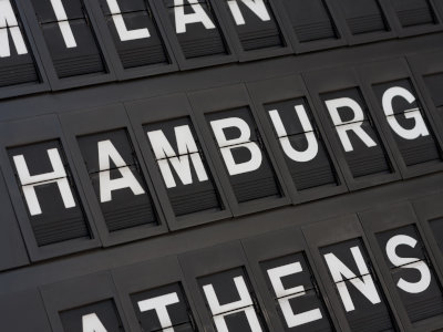 Luftfrachttransport am Hamburger Flughafen